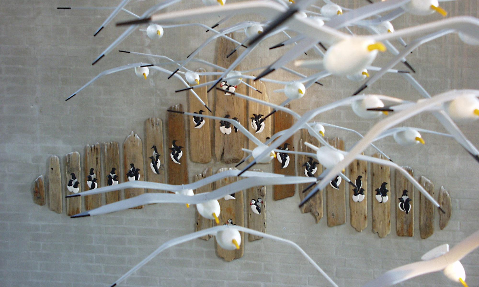 Fugle i strandtræ